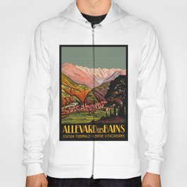 Allevard France - Vintage Travel Poster Hoody