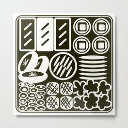 Jubako No3 Monochrome Metal Print