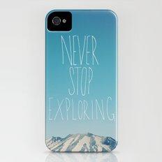 Never Stop Exploring: Mount Rainier iPhone (4, 4s) Slim Case