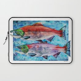 Spawning Red Salmon Laptop Sleeve