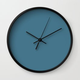 Pratt and Lambert 2019 French Blue 24-12 Solid Color Wall Clock