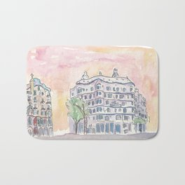 Barcelona Gaudi Houses Casa Batllo and Casa Mila Bath Mat