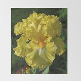 Golden Iris flower - 'Power of One' Throw Blanket