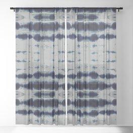 Shibori Strips Sheer Curtain