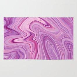 Purple Liquid Marble Rug
