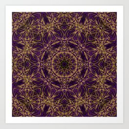 Purple Mandala Hippie Pattern Art Print