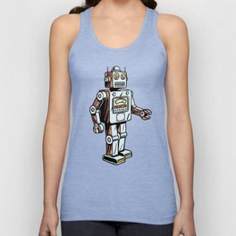 Retro Robot Toy Unisex Tank Top