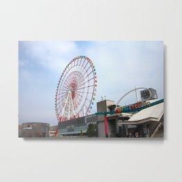 Odaiba's Palette Town and Ferris Wheel Metal Print
