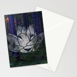 Lotus Lion Stationery Cards
