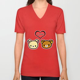 Bear Love Unisex V-Neck
