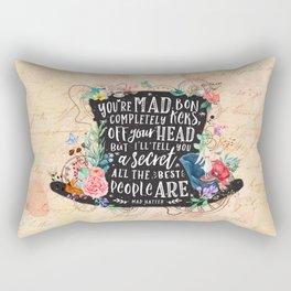 Mad Hatter Rectangular Pillow