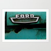 ford Art Prints featuring FORD by CassLynnPhoto