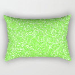 Chaotic white tangled ropes and green pastel lines. Rectangular Pillow