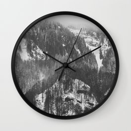 Frosty Forest - Adventure Awaits Wall Clock