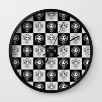 jack daniels Wall Clocks featuring Jack  by GeekCircus