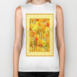 Decorative Yellow Spring Daffodils Collage Art Biker Tank