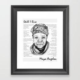 Still I Rise Print Maya Angelou Poem Framed Art Print