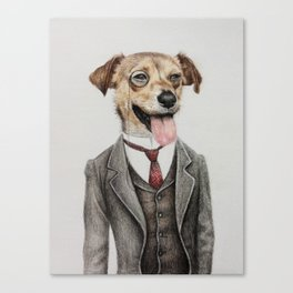 Mr. dog Canvas Print
