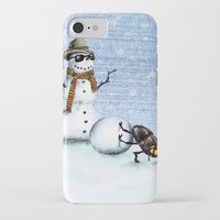 snowman iPhone & iPod Cases featuring Snowman by Anna Shell