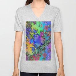 A Burst of Color Unisex V-Neck