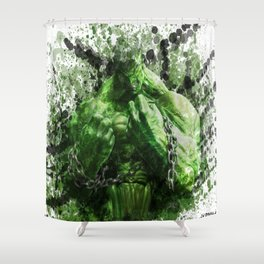 Green Hero Shower Curtain