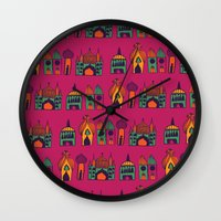 india Wall Clocks featuring India by cactus studio