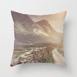 Hazy Landscape Throw Pillow
