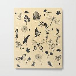 Retro Botanicals Metal Print