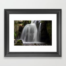 Waterfall at Lumsdale Mill Framed Art Print