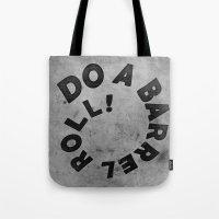 starfox Tote Bags featuring STARFOX - DO A BARREL ROLL! by John Medbury (LAZY J Studios)