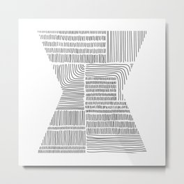 Digital Stitches whole white Metal Print
