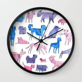 Dog Park Dogs Wall Clock