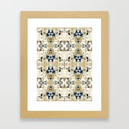 Neutral Tribal Framed Art Print