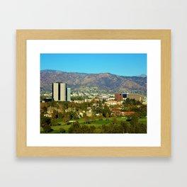LA/Hollywood Overlook Framed Art Print