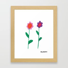 Flower Pals 1 Framed Art Print