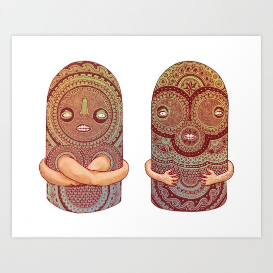Totems Art Print