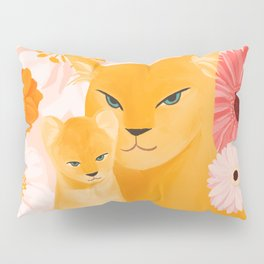 Mother Lion and cub II Pillow Sham