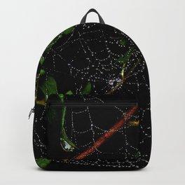Dewy Curved Leaf Web Backpack