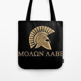 Molon lave-Spartan Warrior Tote Bag