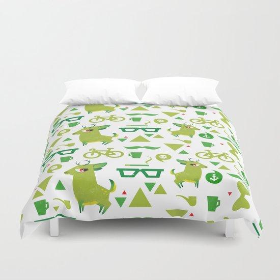Hipsdeer (green) Duvet Cover