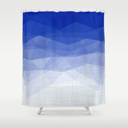 Imperial Lapis Lazuli - Triangles Minimalism Geometry Shower Curtain