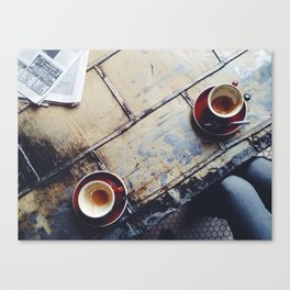 Coffee Shop Chillin Canvas Print