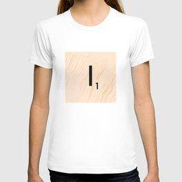 Scrabble Letter I - Large Scrabble Tiles T-shirt