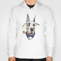 great dane Hoodies featuring Mr. Great Dane by dogooder