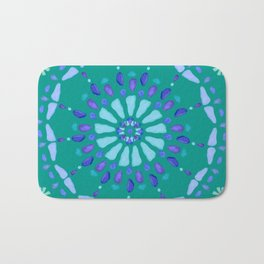 Sea Glass Sun and Flower Mosaic Bath Mat