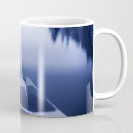Smooth Sailing kayaking monochrome reflections Coffee Mug