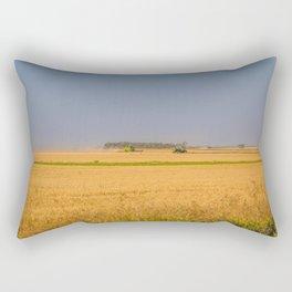 Harvest Near Garrison, ND 3 Rectangular Pillow