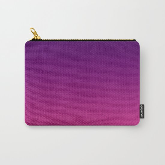 Ombre gradient digital illustration purple red colors Carry-All Pouch