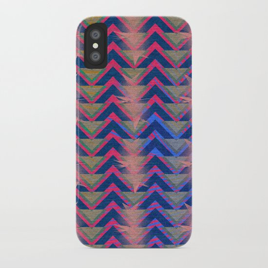 Chevron and  Geometric with pink iPhone Case