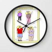 bikini Wall Clocks featuring bikini babe! by gasponce
